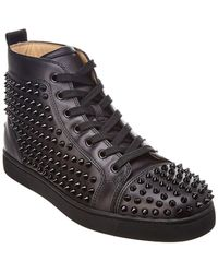 d875b0618da Lyst - Christian Louboutin Merlio High Top Trainers in Black for Men