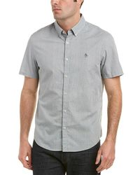 b76936cc7167b Original Penguin - Micro Geometric Heritage Slim Fit Woven Shirt - Lyst