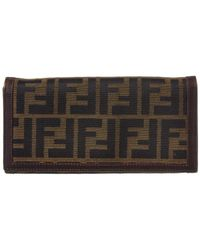 Fendi - Brown Zucca Canvas Long Wallet - Lyst