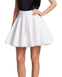 Alaïa - Short Flare Skirt - Lyst