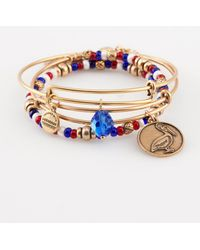 "ALEX AND ANI - Set Of 3 ""americana"" Expandable Bangles - Lyst"