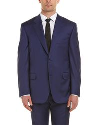 Canali Wool Suit W/ Flat Front Pant
