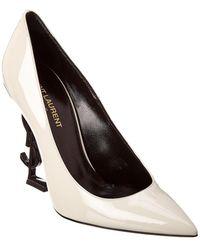 Saint Laurent - White Patent Opyum 110 Heels - Lyst