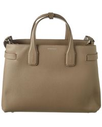 8386799122d6 Lyst - Burberry Remington Medium Embossed Leather Tote in Brown