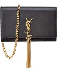 Saint Laurent - Kate Tassel Leather Wallet On Chain - Lyst