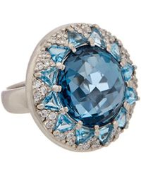 Anzie - Classique Silver 22.0 Ct. Tw. Gemstone Ring - Lyst