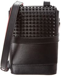 Christian Louboutin - Benech Reporter Spiked Leather Crossbody - Lyst