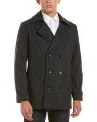 Ike Behar - Abrams Wool-blend Coat - Lyst
