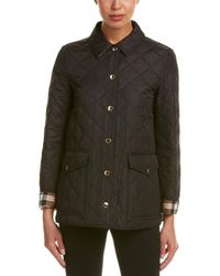 Burberry - Westbridge Check Detail Diamond Quilted Jacket - Lyst