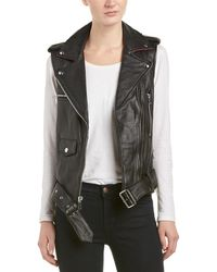 Sam Edelman - Leather Moto Vest - Lyst