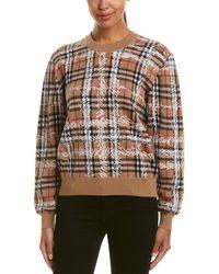 Burberry - Scribble Check Merino Wool Sweater - Lyst