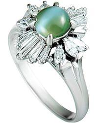 Heritage - Platinum 1.79 Ct. Tw. Diamond & Cat's Eye Ring - Lyst