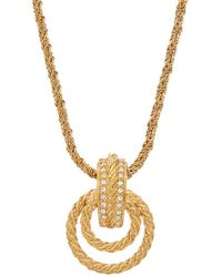 Dior - Dior Gold-tone & Crystal Necklace - Lyst