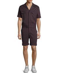 Mr Turk - Mr. Turk Mark Striped Jumpsuit - Lyst