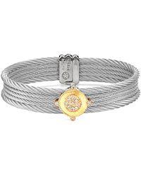 Alor - Classique 18k Yellow Gold & Stainless Steel 0.33 Ct. Tw. Diamond Bracelet - Lyst
