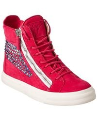 Giuseppe Zanotti - Embellished Suede High-top Trainer - Lyst