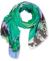 Saachi - Abstract Flower Wool & Silk-blend Scarf - Lyst