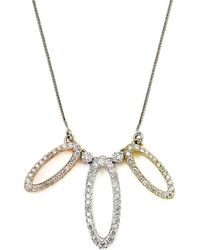 Samuel B Fine Jewelry - Samuel B. Fine Jewelry 14k Tri-color 0.37 Ct. Tw. Diamond Necklace - Lyst
