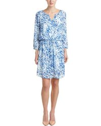 NYDJ - Alexa Printed Pleat Back Dress - Lyst