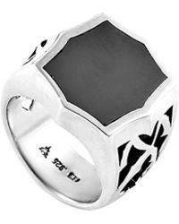 Stephen Webster - Men's Silver Hematite Ring - Lyst