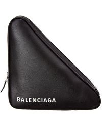 Balenciaga - Triangle Printed Leather Pouch - Lyst