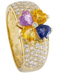 Heritage Van Cleef & Arpels - Van Cleef & Arpels 18k Yellow Gold 3.32 Ct. Tw. Diamond & Sapphire Ring - Lyst