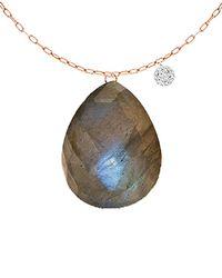 Meira T - 14k Rose Gold 7.51 Ct. Tw. Diamond & Labradorite Necklace - Lyst