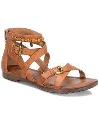 Söfft - Boca Leather Criss Cross Sandals - Lyst