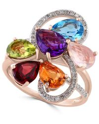 Effy - Fine Jewelry 14k Rose Gold 4.25 Ct. Tw. Diamond & Gemstone Ring - Lyst