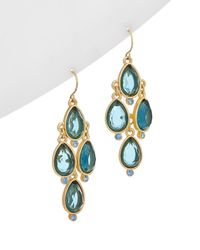 Carolee - True Blue 12k Plated Chandelier Earrings - Lyst