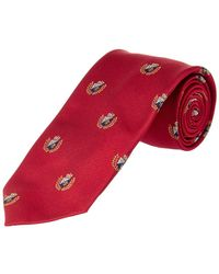 Brooks Brothers - Red Fleece Red Crest Silk Tie - Lyst