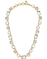 Bounkit - 14k Plated Moonstone Necklace - Lyst