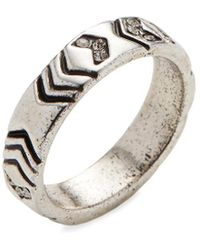 House of Harlow 1960 - 1960 Silver-tone Echo Crest Midi Ring - Lyst