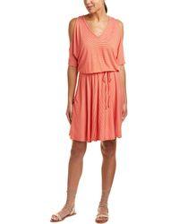 Three Dots - Cold-shoulder A-line Dress - Lyst