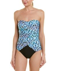Athena - Indigo Essence Bandeau One-piece With Molded Cups (multi) Swimsuits One Piece - Lyst