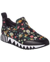 Tory Burch - Floral Printed Jupiter Leather-trim Sneaker - Lyst