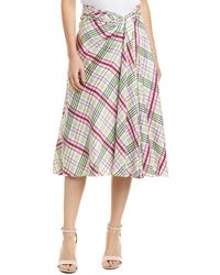 Prabal Gurung - Moore Side Twist Silk Skirt - Lyst