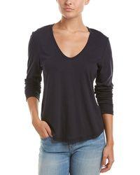 James Perse - Zigzag Stitch Wool-blend T-shirt - Lyst