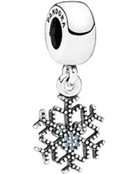 PANDORA - Disney Jewelry Collection Silver Cz Mickey's Sparkling Snowflake Charm - Lyst