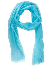 Saachi - Turquoise Cashmere Scarf - Lyst