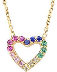 Gabi Rielle - 22k Over Silver Cz Necklace - Lyst