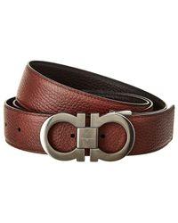 Ferragamo - Reversible & Adjustable Leather Belt - Lyst