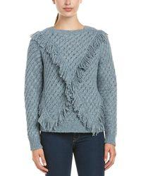 Rebecca Taylor - Fringe Wool-blend Sweater - Lyst