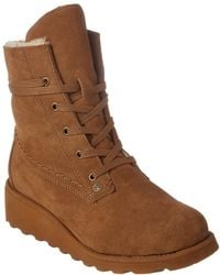 BEARPAW - Krista Wedge Bootie - Lyst