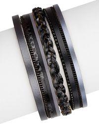 Saachi - Leather Bracelet - Lyst
