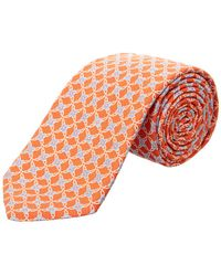 Ike Behar - Navy Connected Floral Silk Tie - Lyst