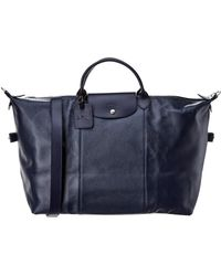 Longchamp - Le Foulonne Large Leather Travel Tote - Lyst
