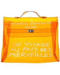 Hermès - Orange Vinyl Souvenir De L'exposition 1998 Kelly Ghw - Lyst