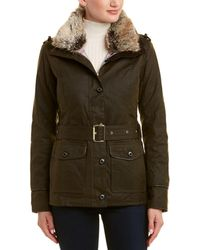 Barbour - Stirling Wax Leather-trim Jacket - Lyst