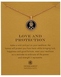 Dogeared - 14k Rose Gold Over Silver Enamel Love & Protection Necklace - Lyst